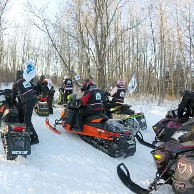Snowmobiling the Trans-Canadian Trail in Hudson Bay