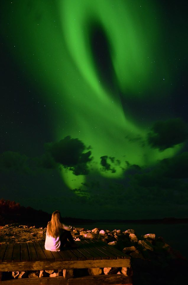 Northern lights over Stony Rapids, Sask.