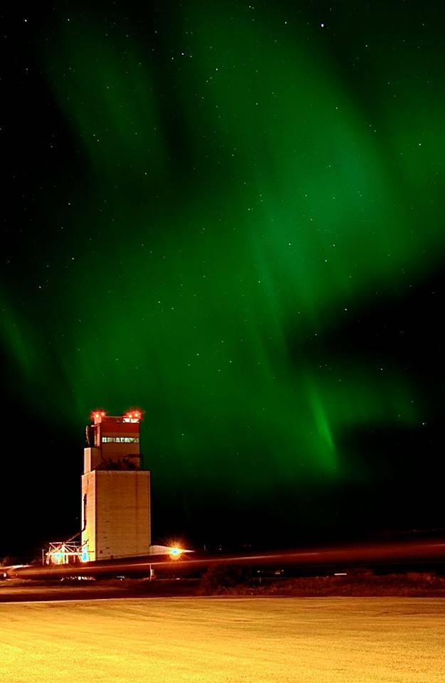 Northern lights over Foam Lake, Sask.