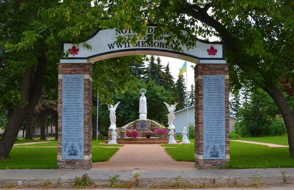 Debden war memorial in Debden, Sask.