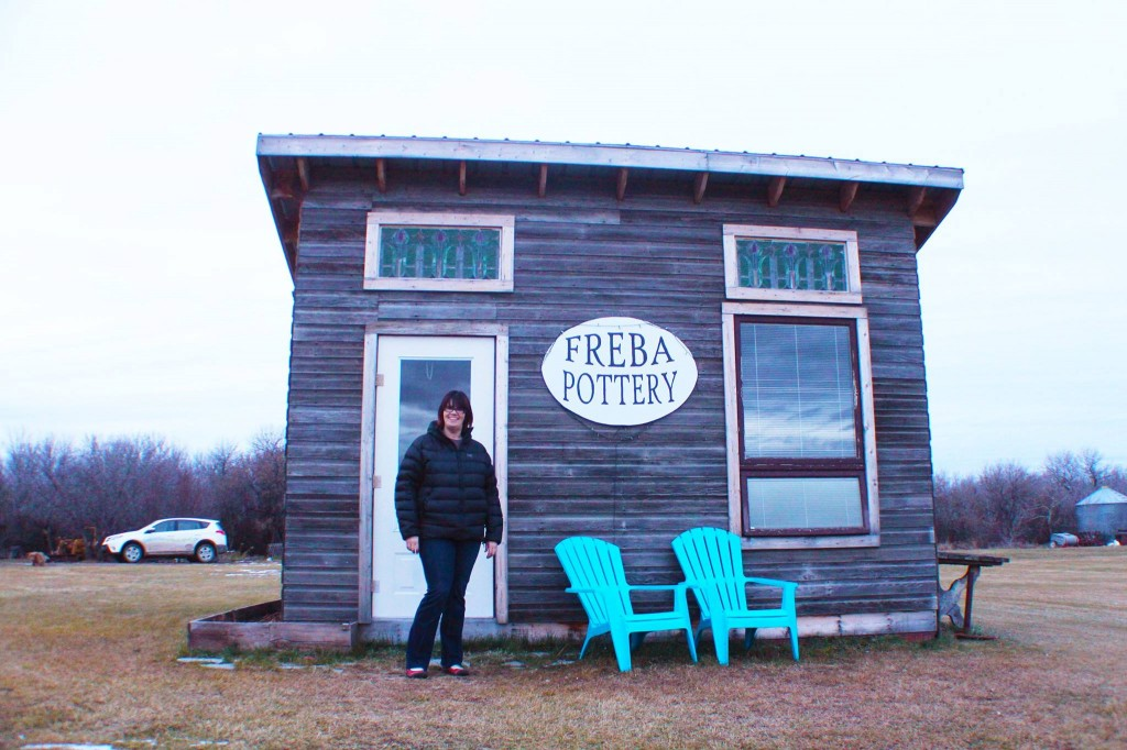 Freba Pottery east of Wynyard, Sask. along highway 16.