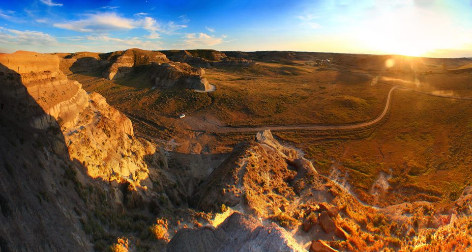View atop Castle Butte in southern Saskatchewan.