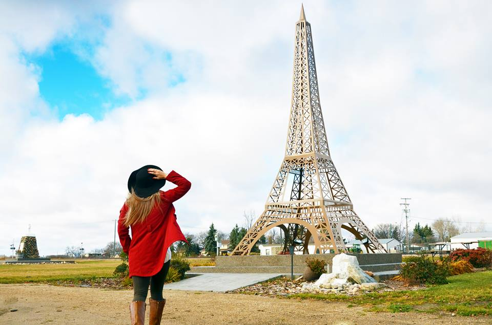 The replica Eiffel Tower in Montmartre, Sask.