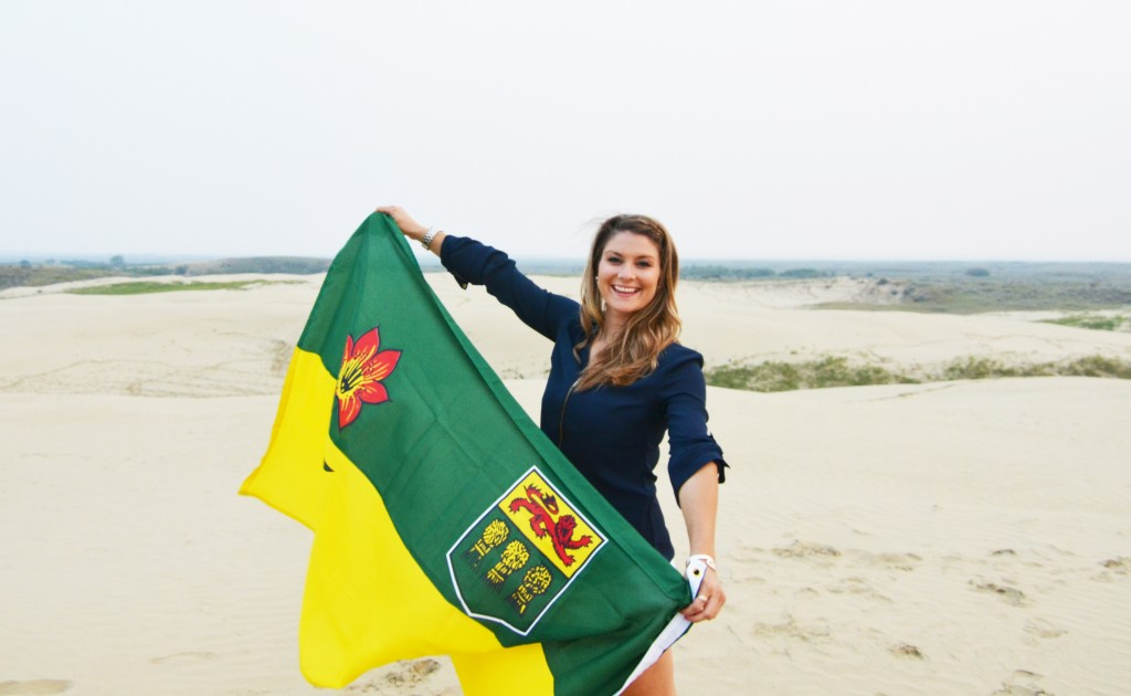 Ashlyn George Saskatchewan Flag